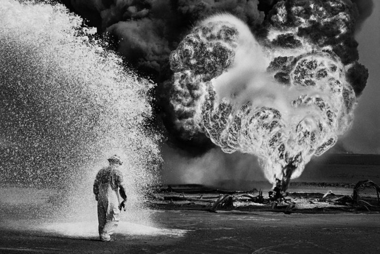 When the Oil Fields Burned, Sebastiao Salgado