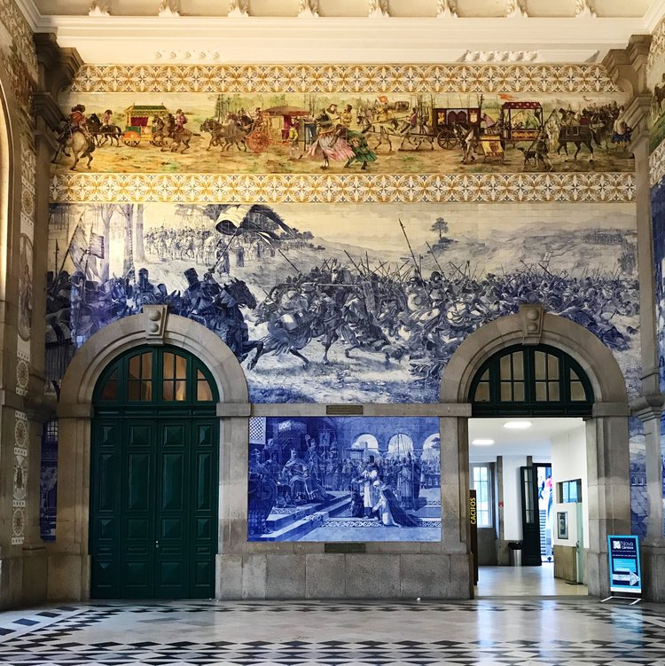 Photo of São Bento station taken on our recent trip to Porto.