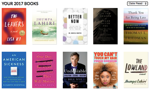 List of books I've read this year