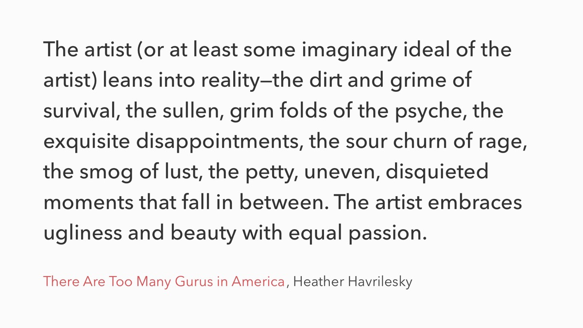 Quote by Heather Havrilesky