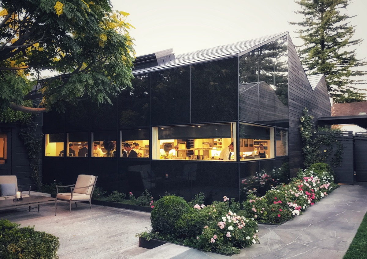 View of The French Laundry kitchen from outside