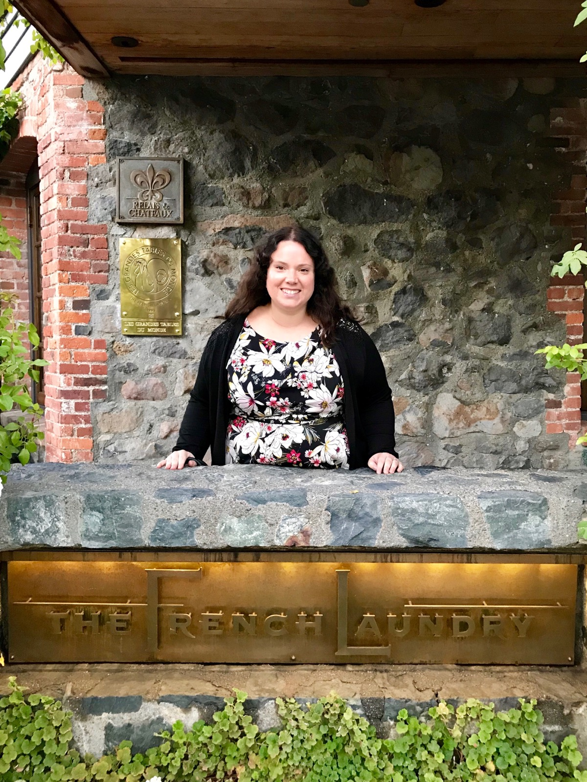 Lise in front of The French Laundry