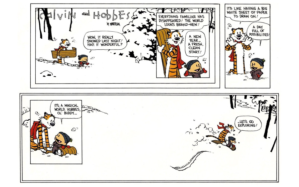 Final Calvin & Hobbes comic strip