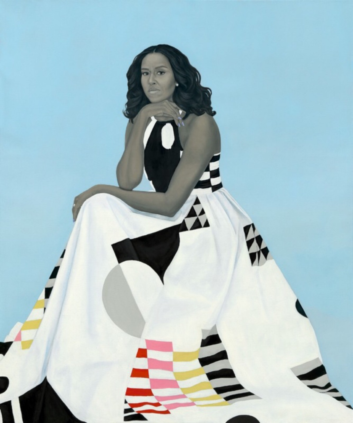 Portrait of Michelle Obama by Amy Sherald