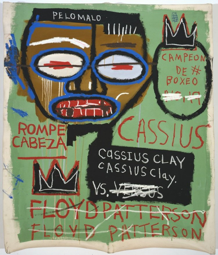 Jean-Michel Basquiat - Cassius Clay, 1982