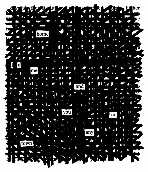 Blackout Poetry from Austin Kleon's Newsletter