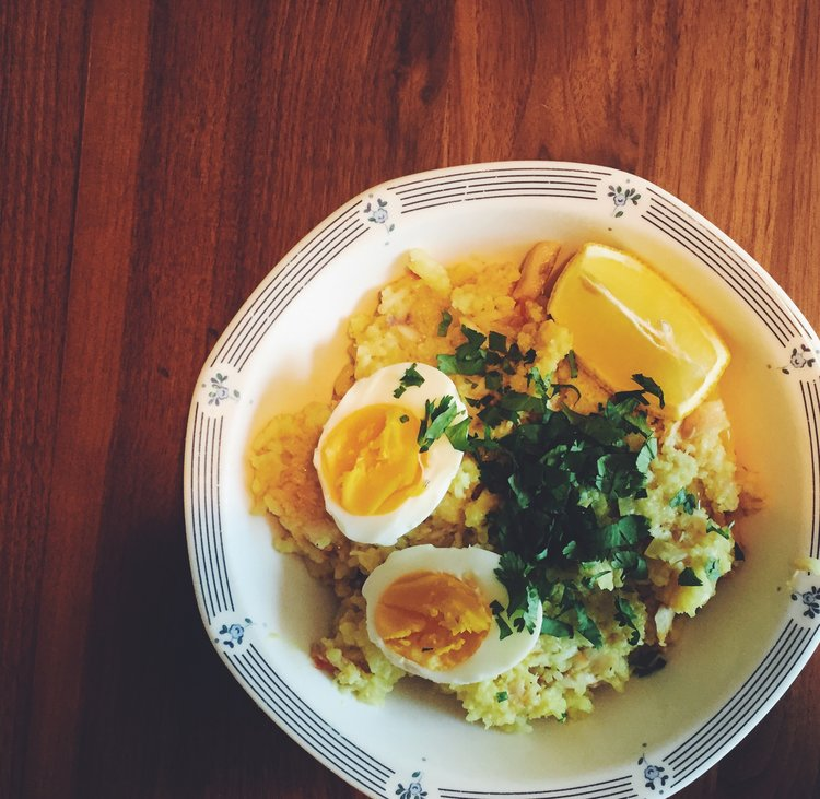 My bowl of kedgeree.