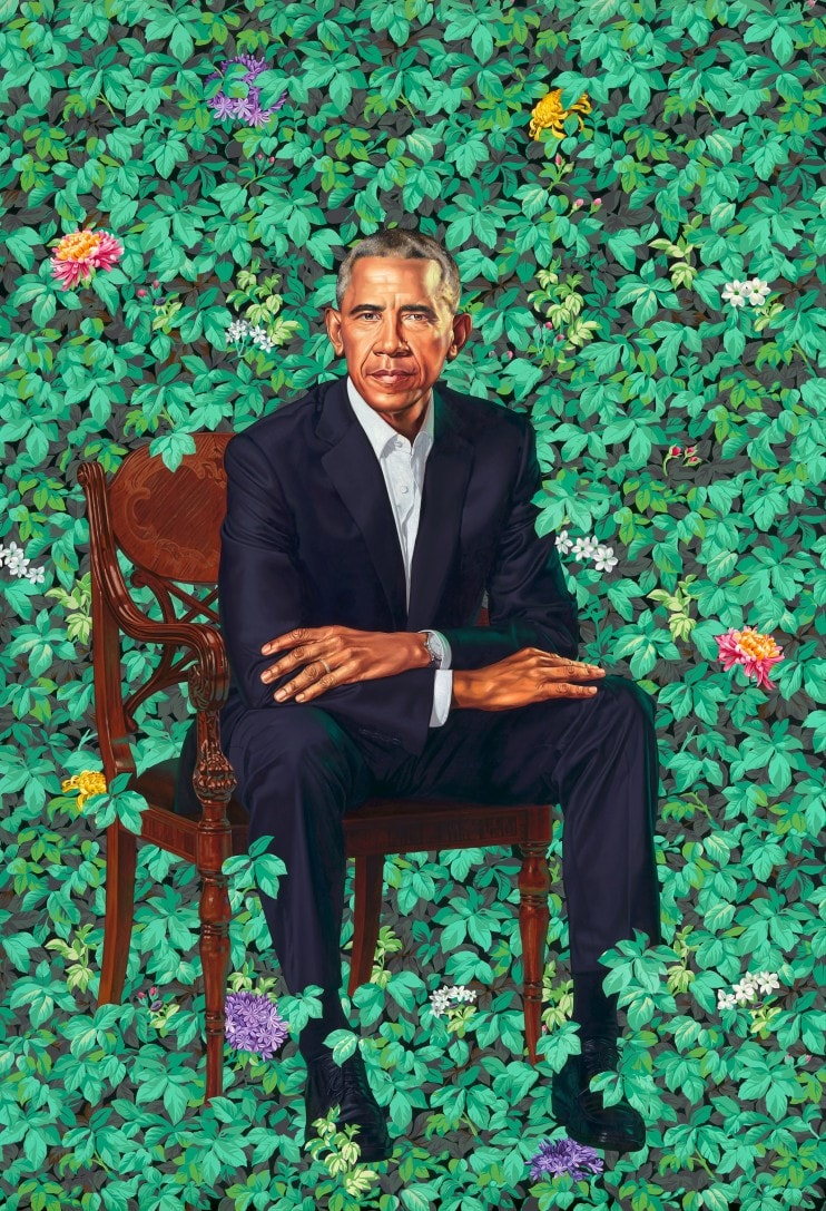 Portrait of Barack Obama by Kehinde Wiley