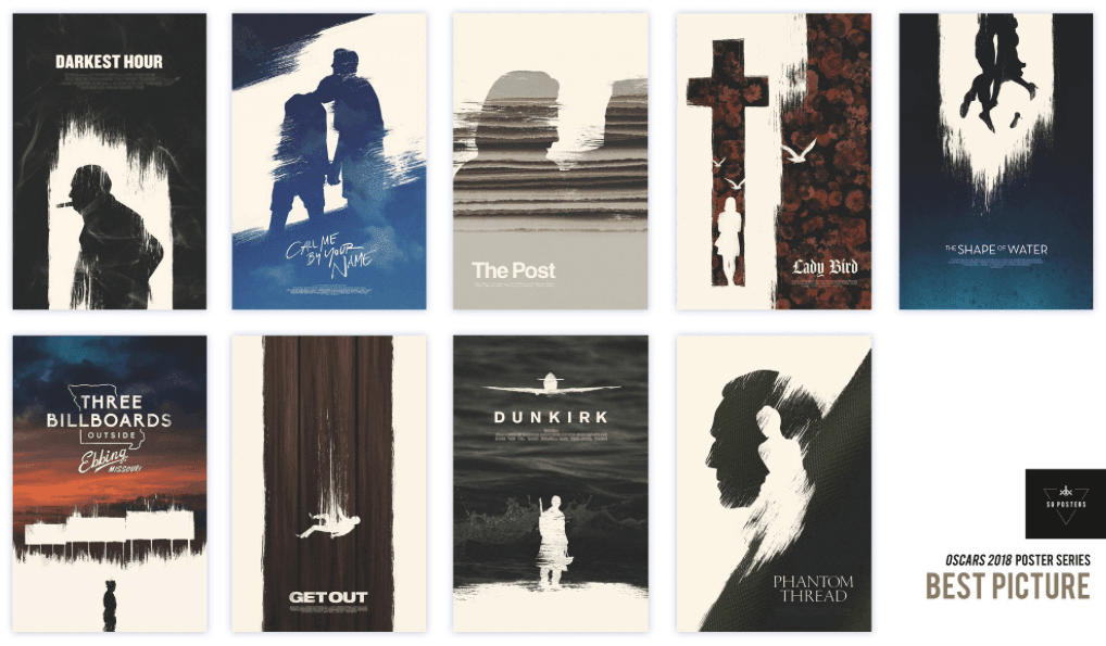 Alternate Oscar posters by Eileen Steinbach