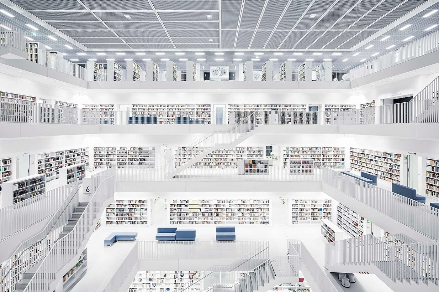 Gorgeous photos of libraries by Thibaud Poirier