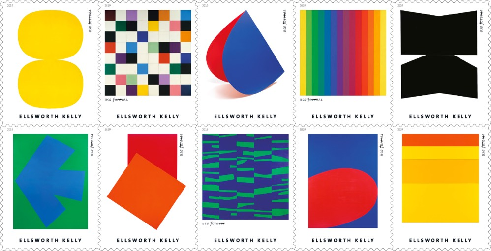 Ellsworth Kelly stamps to be introduced by USPS later this year