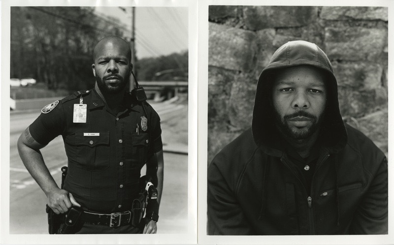 Photo of Eric King in uniform and out of uniform
