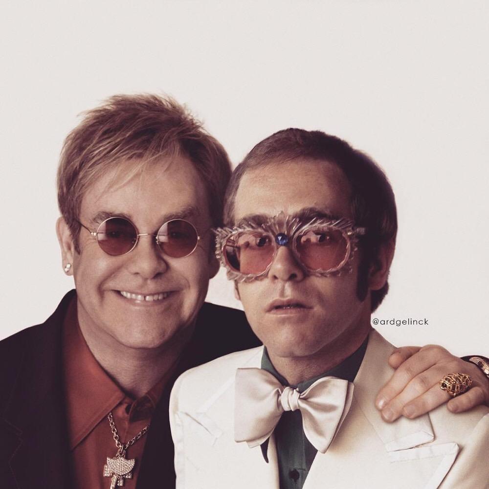 Elton John Then and Now