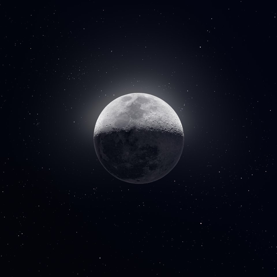 Composite photo of the moon