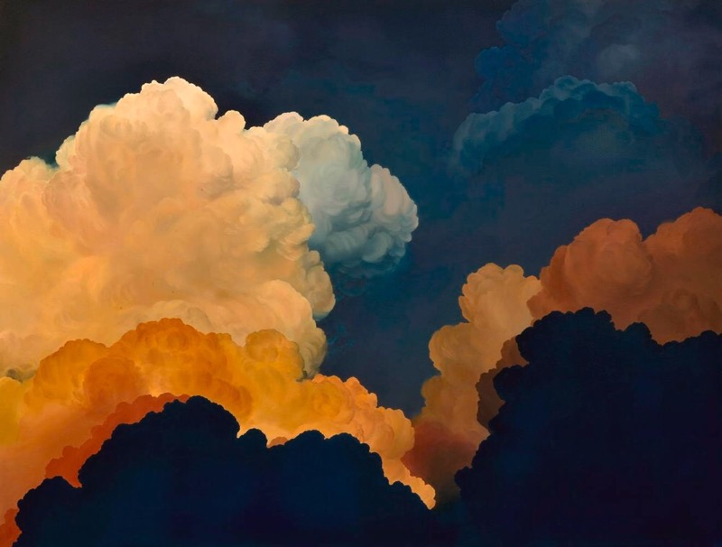 Painting of clouds by Ian Fisher