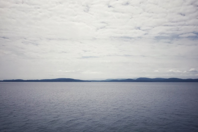 View of water and islands from ferry