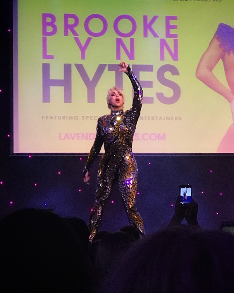 Drag queen Brooke Lynn Hytes on stage