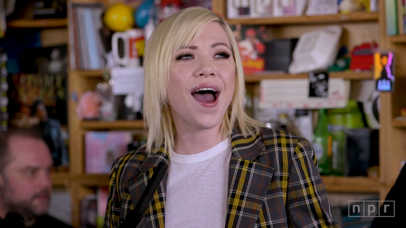 Screen capture of Carly Rae Jepsen Timy Desk Concert