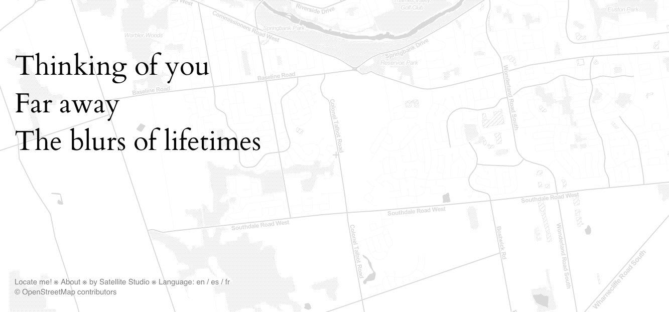 Haiku created by a location-based haiku generator