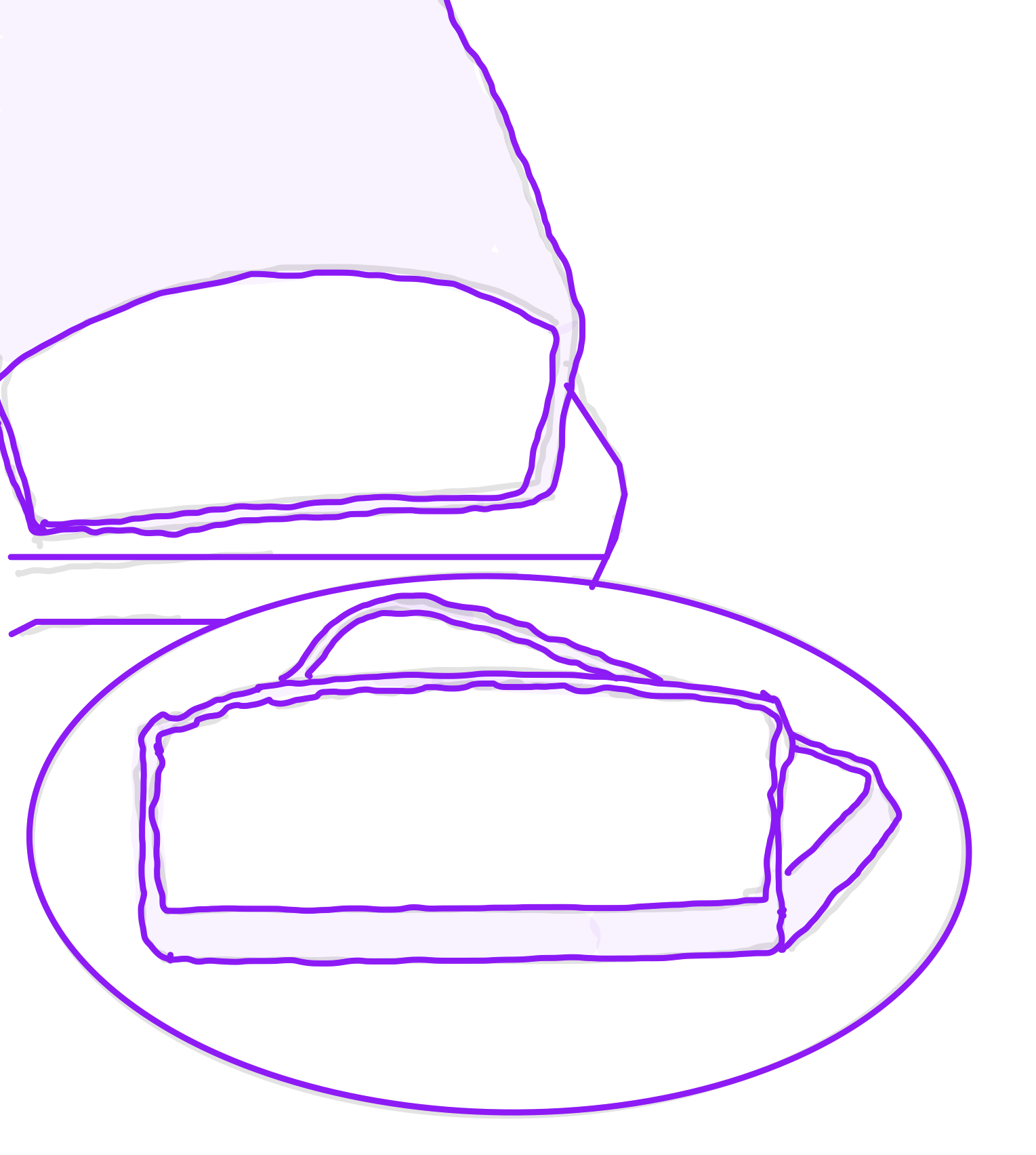 Drawing of slices of cake
