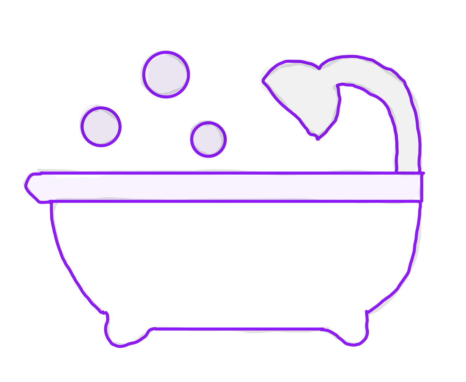 Drawing of bathtub