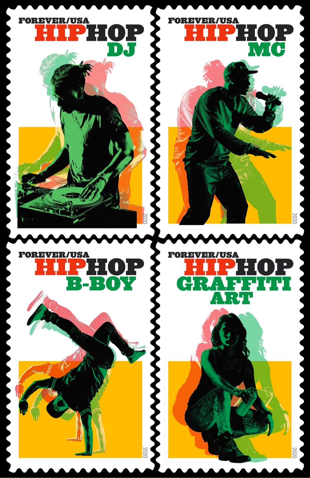 USPS hip hop stamps