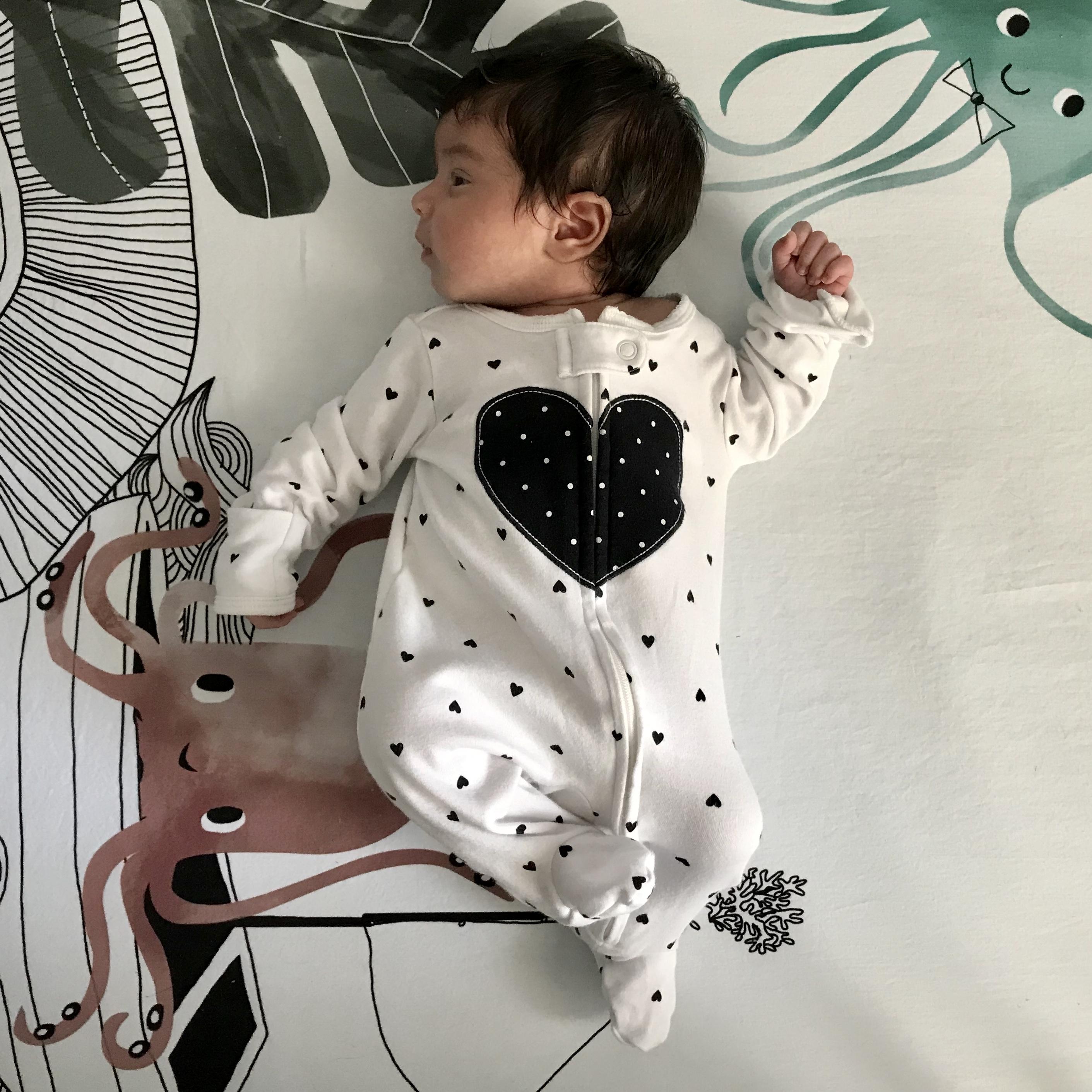Baby Zoya one week after birth